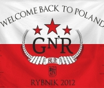 Flaga na koncert Guns N' Roses 11 lipca w Rybniku