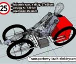 Transportowy łazik elektryczny (rower)