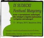 IX Sudecki Festiwal Muzyczny z warsztatami wokalnymi dla...