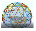 Kopuła geodezyjna - salonik edukacyjny dla dzieci